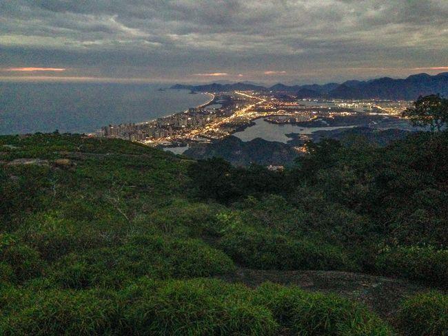 Visual Pedra Bonita Barra Da Tijuca Rio De Janeiro Rio Trilha Montain  Anoitecer Brasil Brazil