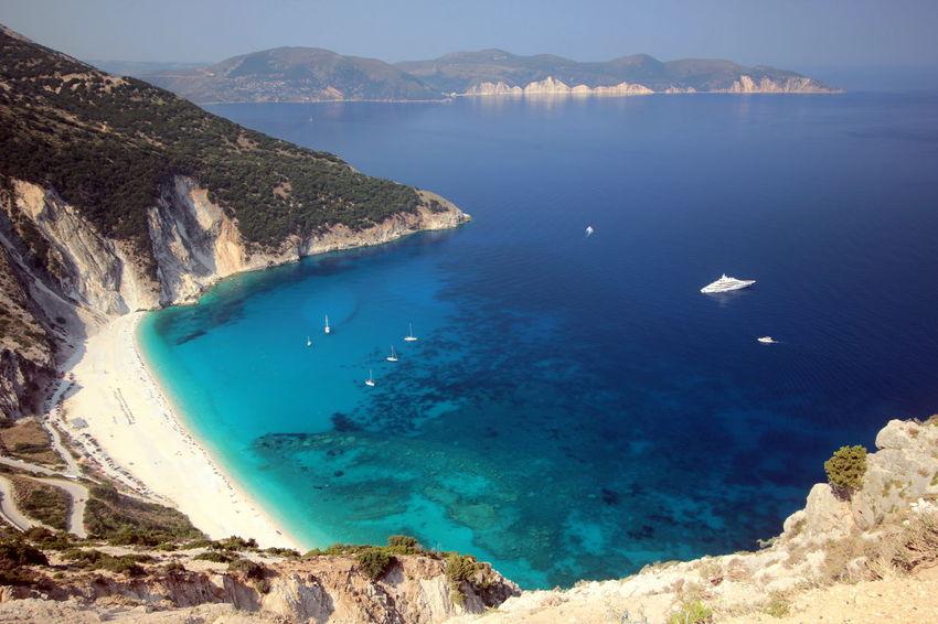 GREECE ♥♥ Greece Photos Greek Islands Kefalonia, Greece Myrtos Bay Myrtos Beach Summer Greece