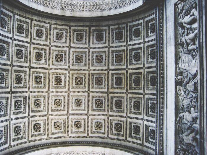 Looking up. Arc de Triomphe. Paris France Arcdetriomphe