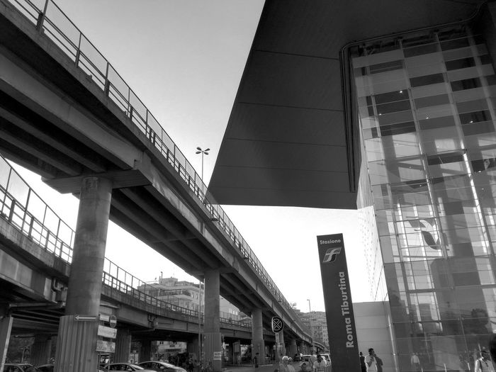 Urban beauty. Station Tiburtina Rome Orbital Road Iron Glass Concrete Architecture Urban