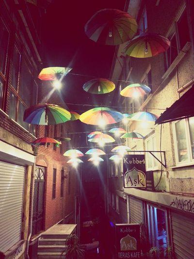 Regenschirme einfach Kunterbunt