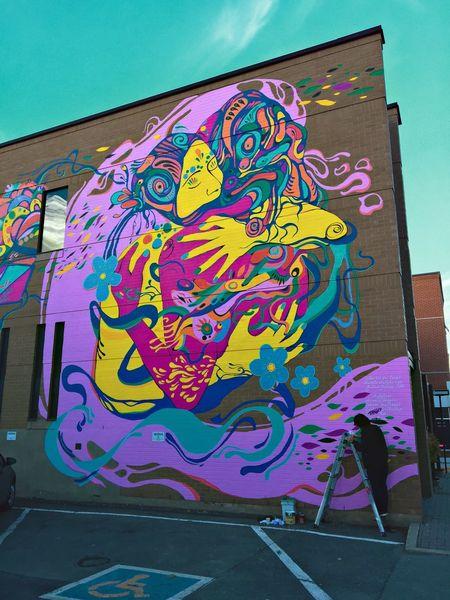 Graffiti Painting Art Drawing Colors Joy Blue Man Building Architecture Street Art First Eyeem Photo Outdoors