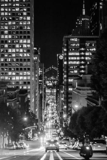 California Street San Francisco Streets City Life Road Cityscape Skyscraper Traffic Travel Destinations Night Architecture
