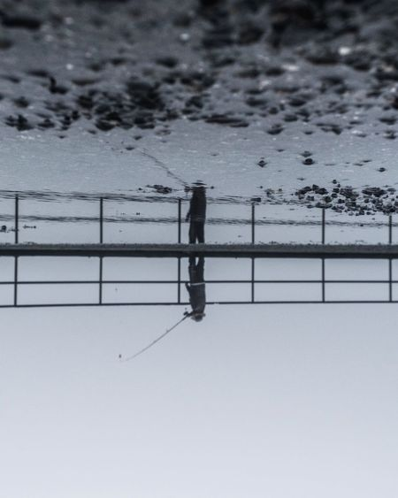 Water Nature Outdoors Day Fishing Gloomy Fog Minimalism Reflection