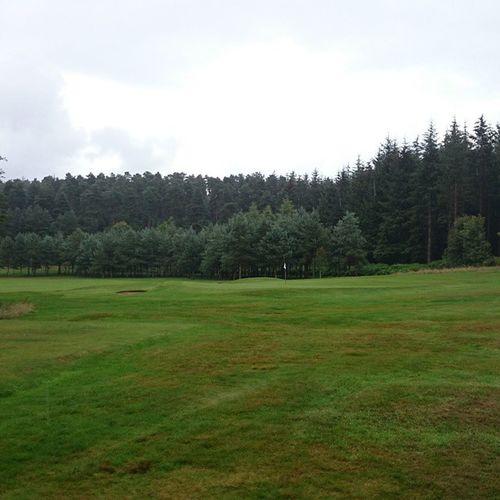 Dad's golf course Forest Golf Green Fairway Outdoors Bunker Penrith Cumbria Rain Walking Dog