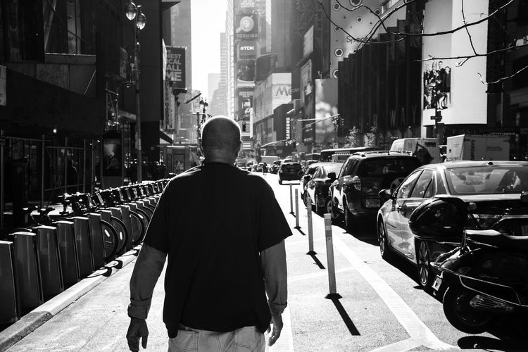 America Architecture City Men New York New York City Real People Rear View Road Street Streetphoto_bw Streetphotography