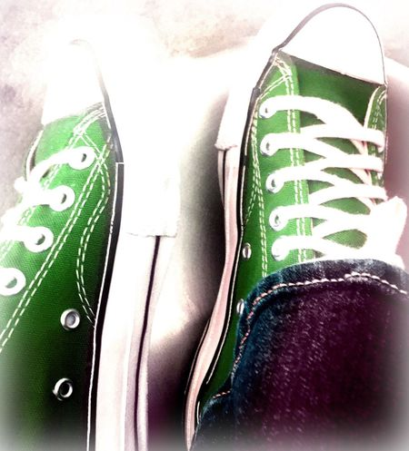 My favorite color ☺️⭐️I just had to have these 👌🏼 Chucks Converse Colorful My Favorite Color Playing With Filters I Love Green Fun Edit Color Your Life 💚