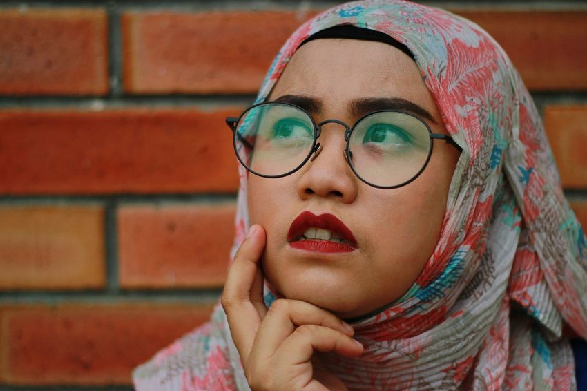 EyeEm Selects Only Women One Woman Only One Person Adult Headshot One Young Woman Only Young Adult Adults Only People Front View Human Body Part Young Women Portrait Human Face Women Eyeglasses  Day Outdoors Close-up
