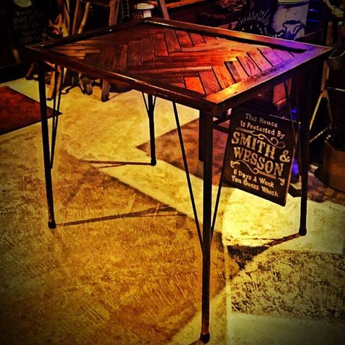 Handmade Coffeetable Cafe Wood Vintage