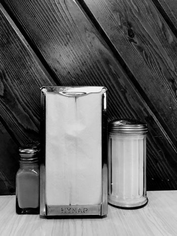 EyeEm Selects Table Indoors  No People Close-up Day Napkin Dispenser Diner Salt Pepper Minnesotaphotographer