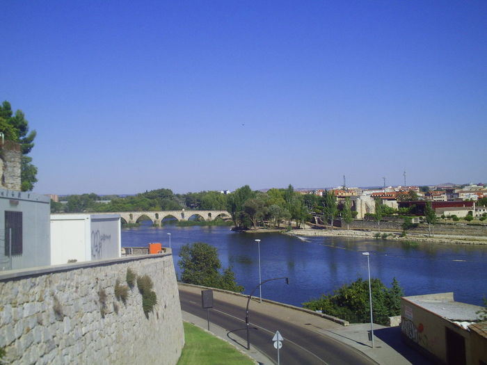Zamora old travel Architecture Blue Building Exterior Built Structure Clear Sky Day Growth Nature Nautical Vessel No People Outdoors Sky Swimming Pool Tree Water Zamora Zamora, Spain