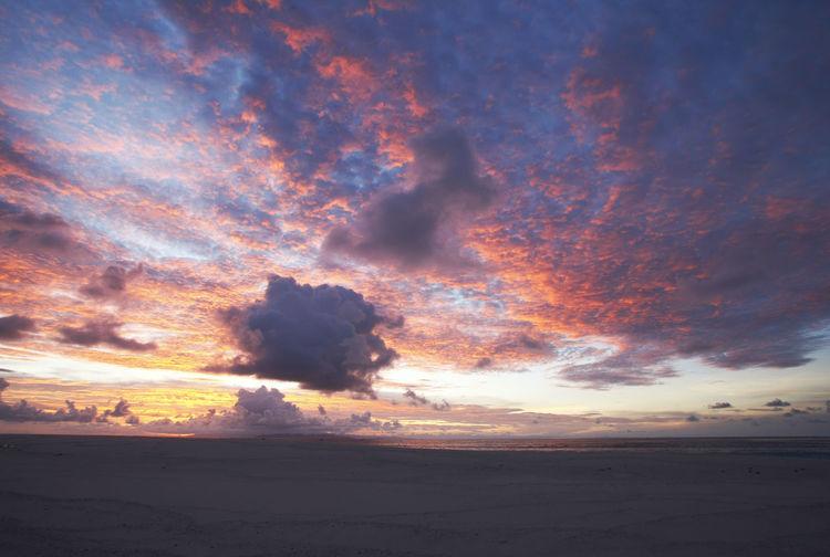 Paradise Beach at the Fiji Islands Fiji Fiji Islands Island Tropic Sky Beauty In Nature Cloud - Sky Scenics - Nature Tranquil Scene Tranquility Land Idyllic No People Nature Outdoors Sunset Environment Non-urban Scene Dramatic Sky Orange Color Landscape Cloudscape Majestic