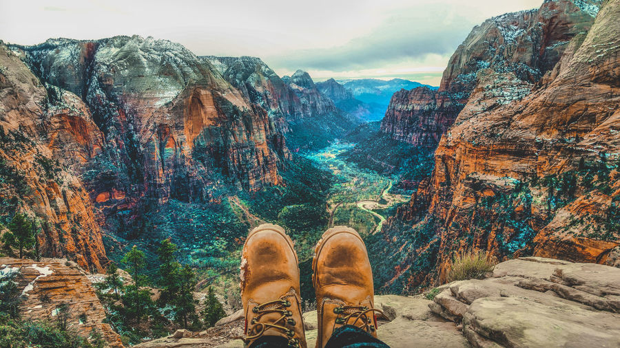 Colors EyeEm Best Shots EyeEmNewHere Hiking Memories Peace Shoe Tranquility View Zion Zion National Park Beauty In Nature Hike Leisure Activity Lifestyles Meaningful  Mountain Nature Outdoors Rock Formation Scenics Tall - High Top Of The Mountains Perspectives On Nature