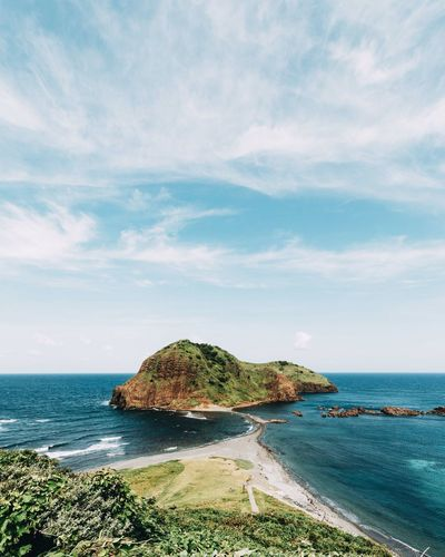 EyeEm Selects Sea Beach Horizon Over Water Water Cloud - Sky Nature Vacations Outdoors Scenics Summer Tranquility Sky Blue Travel Destinations Beauty In Nature Sand Japan Sadoshima The Week On EyeEm EyeEmNewHere