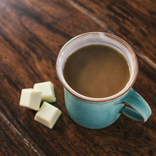Close-up Coffee - Drink Coffee Cup Day Drink Food Food And Drink Freshness Healthy Eating High Angle View Indoors  No People Refreshment Table Wood - Material