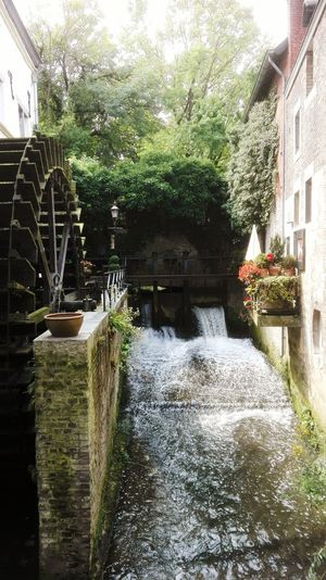 Waterwheel Built Structure Building Exterior Outdoors Day Maastricht Holland