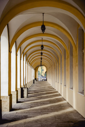 Arch Architecture The Way Forward Built Structure Direction In A Row Architectural Column Building Arcade Diminishing Perspective Corridor Repetition Indoors  Ceiling Day Lighting Equipment Colonnade Illuminated Incidental People Long Shadows & Lights Shadow Shadows