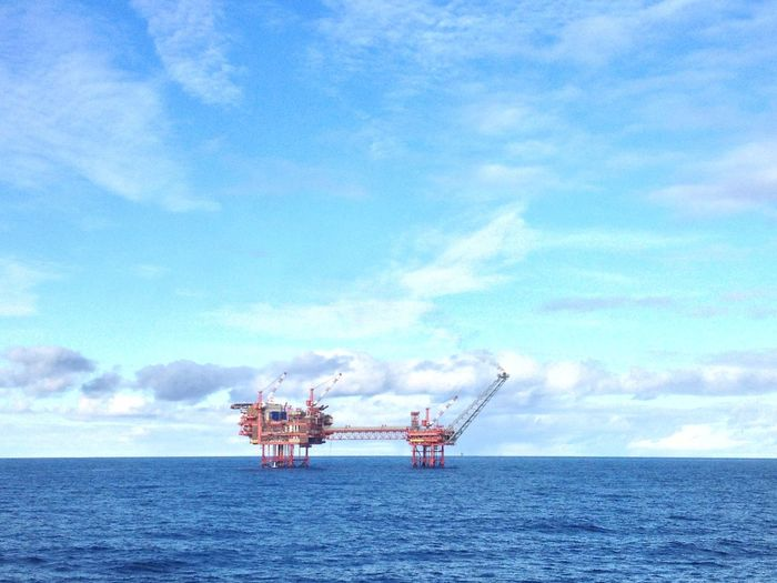 Oil Platform Oil & Gas Cloud - Sky Day Drilling Rig Fossil Fuel Horizon Horizon Over Water Industry Nature No People Offshore Platform Oil Industry Outdoors Sea Sky Water Waterfront