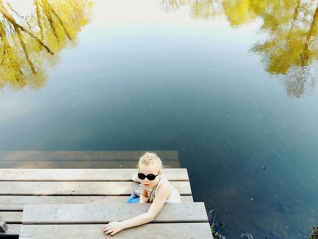 Tavrichesky Garden Lake Mermaid Sankt-peterburg Springtime Deep Blue Greeny