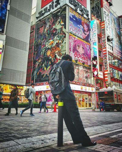 | Akihabara | Man Japan Japanese  Student Uniform School Uniform School Uniforms Around The World Street Akihabara Akihabara Station Japanese  Japanese Culture Otaku Anime Manga City Culture Animelover Urban Lifestyle Travel Travel Destinations Japanese  Tokyo Architecture Full Length