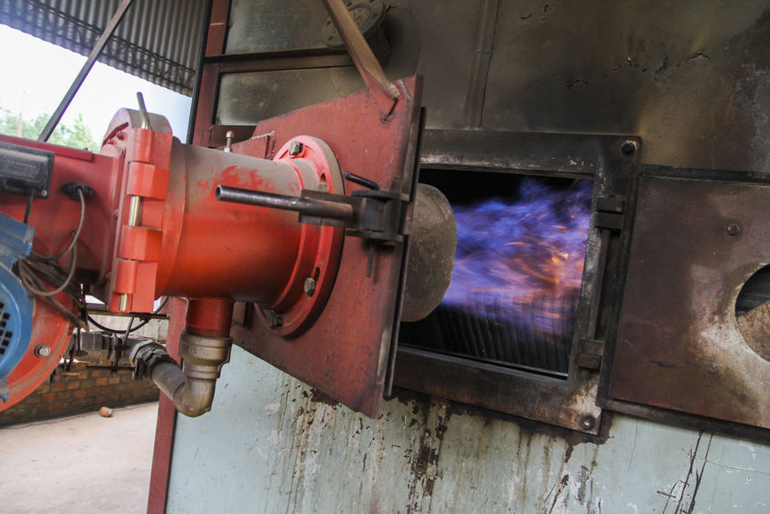 Cassava waste is used for the production of biogas Misiones Argentina Biogas Biomass Famulari Fire Industry Machinery