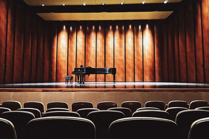 Empty chairs at auditorium