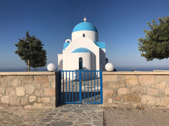 Greek church Greece Greek Church Architecture Tree Built Structure Nature Sky Religion Place Of Worship Spirituality Clear Sky