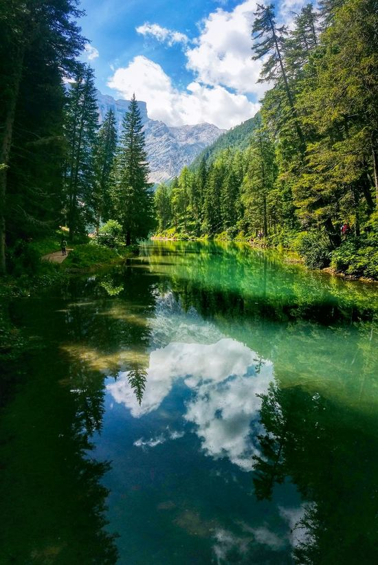 Braies Lake Bolzano Trentino Alto Adige Italy Travel Photography Travel Voyage Traveling Mobile Photography Fine Art Photography Panoramic Views Vertical Landscapes Nature Natural Parks Mountains Woods Reflections And Shadows Transparencies Shades Of Blue And Green Colour Of Life