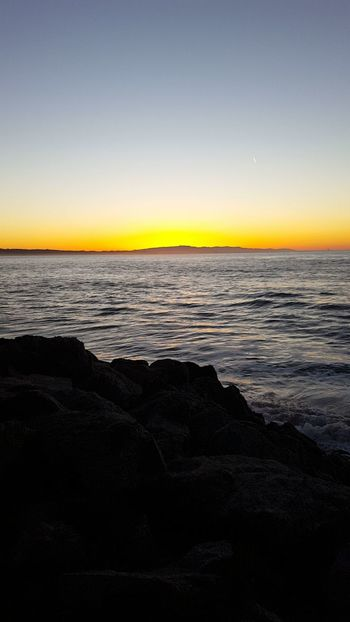 Sunrise Sea Horizon Over Water Beach Nature Beauty In Nature Outdoors Scenics Tranquil Scene No People Water Landscape Day Santa Cruz