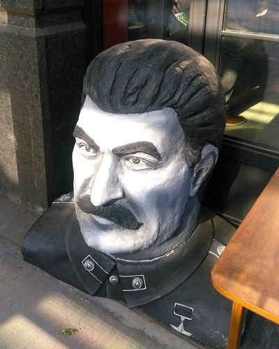 The head of Stalin. photo by Shell Sheddy Documentary Photography Photo Journalism Shellsheddyphotography Streetphotography Street Sheshephoto Head Of Stalin Human Face Headshot Portrait Close-up Statue Male Likeness Sculpture Sculpted