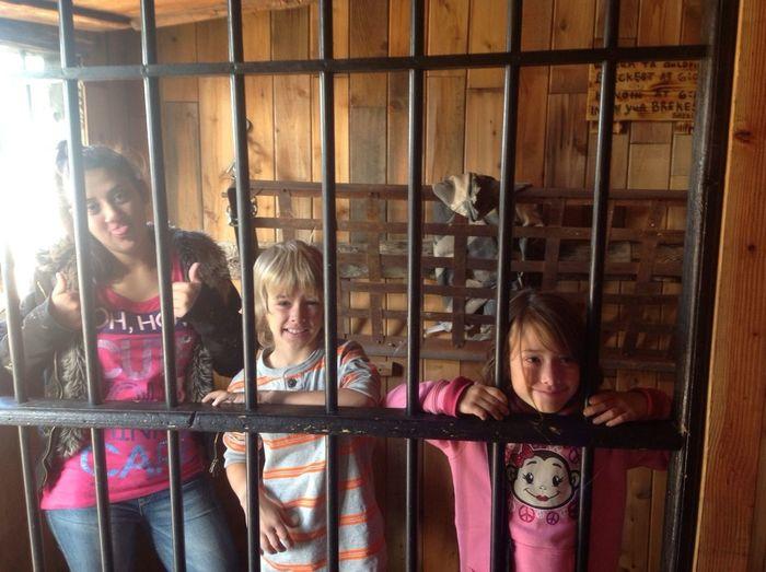 We're in jail