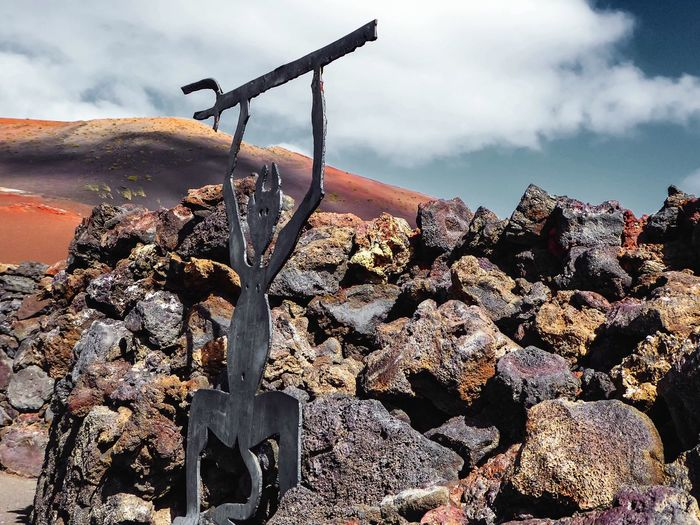 Guardian of Hot Earth entrance to Timanfaya Lanzarote Islas Canarias The Devil's In The Detail ArtWork Volcanic Landscape OpenEdit Landscape_Collection The KIOMI Collection The Great Outdoors - 2016 EyeEm Awards