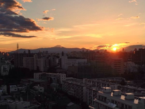 The post-typhoon reward. A picture perfect Fuji sunset. Mt. Fuji Sunset Sunset_collection Cool Japan