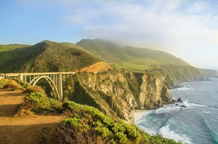 Bixby Bridge Pacific Ocean Big Sur California