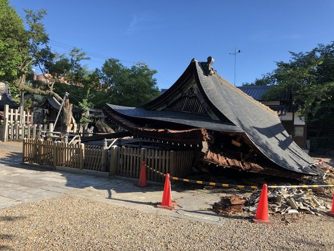 Broken Building Built Structure Damaged By Wind  No People Place Of Worship Religion Roof Typhoon Damage