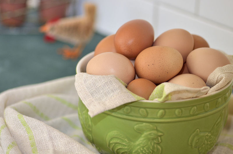 Bowl of eggs Bokeh Photography Bowl Brown Eggs Chicken Eggs Farm Eggs Food Food Phtography