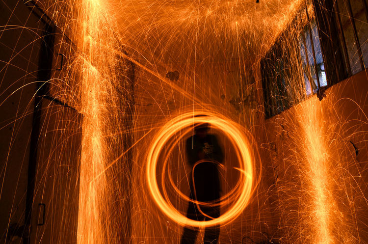 Abstract Art ArtWork Backgrounds Circle Close-up Fire Firephotography Firephotos Firework Glowing Illuminated Light Light Light And Shadow Light Painting Light Trail Motion Night Spark Sparkle