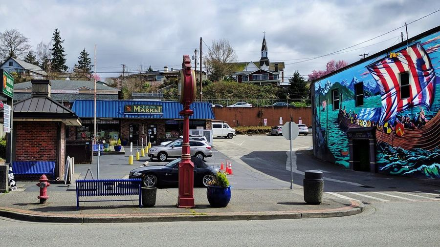 Poulsbo, Washington Marina Market Small Town Small Business Scandinavian Market Scandinavian Community No People Old Town Old Buildings Vikings  Viking Town Viking Painting Wall Art Viking Wall Art
