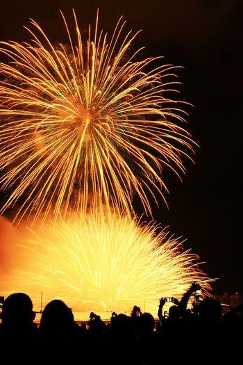 08152016 諏訪湖湖祭上花火大会 諏訪湖花火大会 諏訪湖 Fireworks 花火 Japan 水上スターマイン Kisss Of Fire