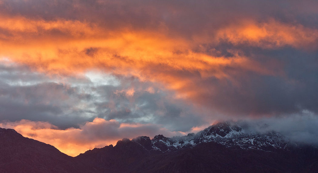 Wild sunset colors high in the mountains, Himalayas, Nepal Himalayas Nepal Beauty In Nature Cloud - Sky Cold Temperature Day Dramatic Sky Idyllic Landscape Majestic Mountain Mountain Range Nature Nepal Travel No People Outdoors Scenics Sky Snow Sunset Tranquil Scene Tranquility Weather Winter
