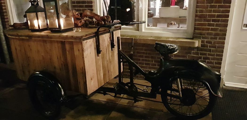 Vintage Christmas Decoration Lights In The Dark Bicycle