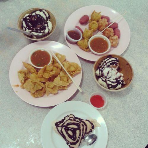 อาหารว่าง(?)with benjipan ยามบ่าย ก่อนไปอ่านหนังสือ กินอีกแล้ว หอ1หญิง