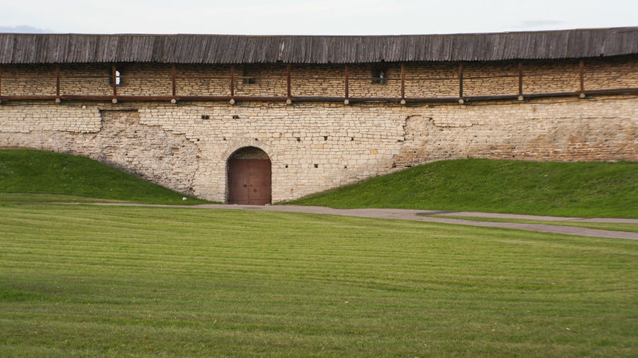Kremlin wall Architecture Built Structure Day Fortress Gates Grass Green Color Landscape Nature No People Outdoors Wall