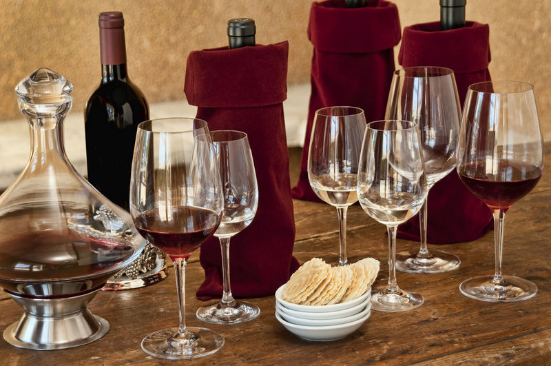 Wine tasting Food And Drink Drink Refreshment Alcohol Red Wine Glass - Material Table Wine Glass Wineglass Bottle Drinking Glass Indoors  No People Still Life Container Transparent Winetasting Luxury Setting