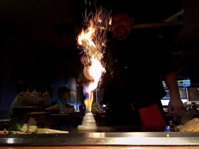 Hibachi Japanese Food Steakhouse Fire Fireworks Firenze Chef Cooking Cook  Cooking Dinner