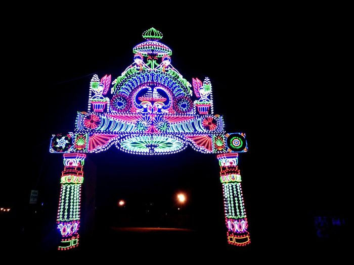 Futuristic Outdoors Sky Night Pond Water Jaipur Banna India Lovely Nature Aerial View Night Lights Fair Festival Season Colures Siker Khatushyamji Black Background No People Architecture