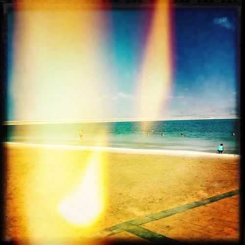 Seventies Beach Hipstamatic HipstaOfTheDay Iphone6s IPhoneography Multi Colored Sand Sea Seventies Seventies Light Shore Summer Sunbeam Water Yellow