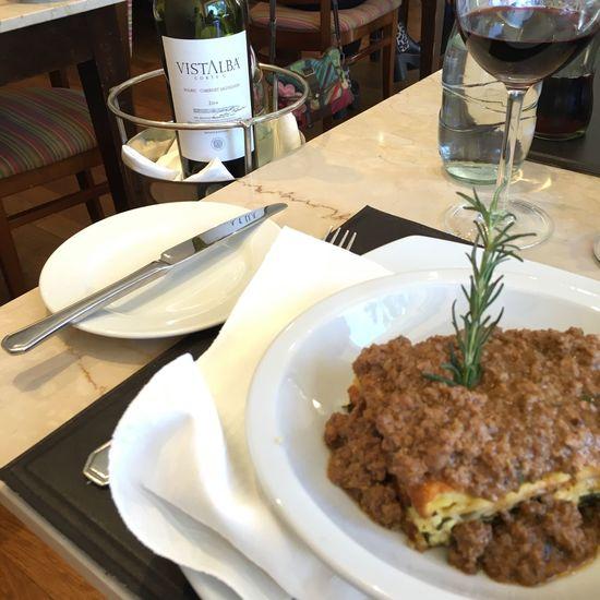 Lasagna Lasagna #lunch Lunch Córdoba Almuerzo Redwine Vino Tinto