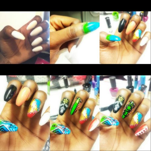 Nail Art Left Hand Process Of My Nails