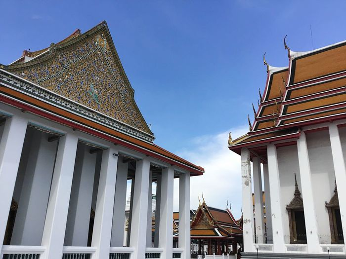 Buddhist Temple Architecture Built Structure Building Exterior Building Sky Low Angle View Place Of Worship Travel Destinations